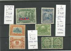 China 1912/1985 – Selection of 53 stamps