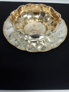 Centrotavola Gold and Silver Plated