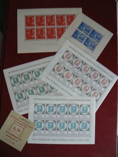 The Netherlands – 1942/1967 – Legion blocks and Amphiliex sheets