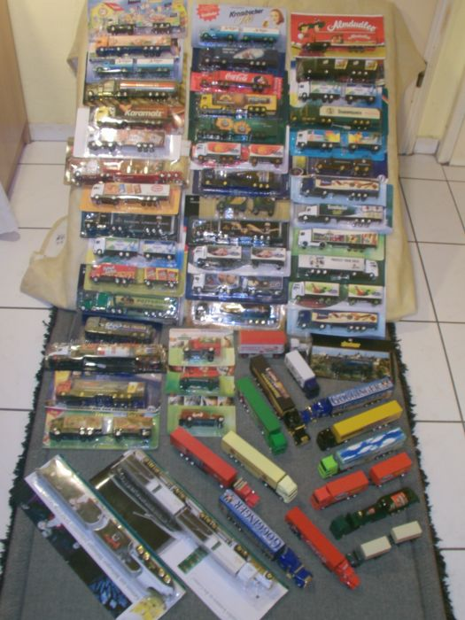 Grell / advertising trucks - scale 1/87 - lot with 60 models