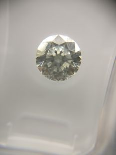 1.01 ct Round cut diamond F I1    No Reserve Price