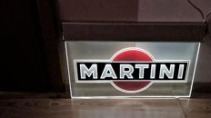 Set of sponsors - MARTINI Racing. Illuminated MARTINI ad 1990y.- very little used + banner FERRARI as free/gratis.