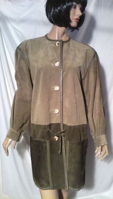 Guy Laroche - 3/4-length look jacket in suede.