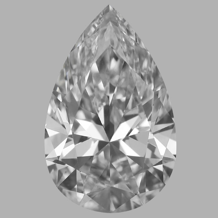 0.70 Carat Pear Brilliant cut Diamond,  D IF  GIA, Serial# - BH-19- Original image 10X