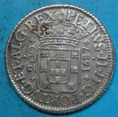 Portugal Monarchy - D. Pedro II - 200 Reis 1687 - Silver