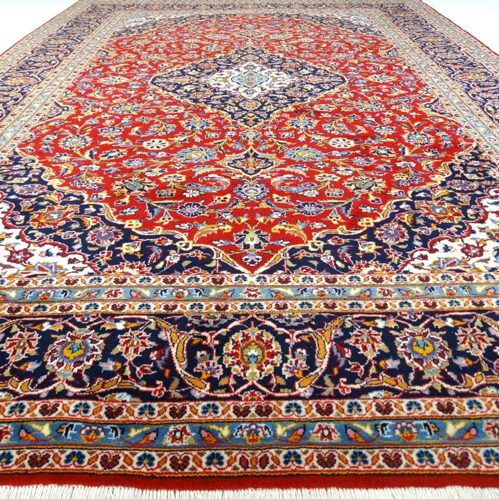 "Keshan – 354 x 247 cm. - ""XL Persian rug - Eye catcher in Top condition"" - With certificate."