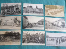 Lot of 60 military postcards from the early 20th century
