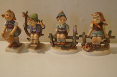 Four Hummel figurines