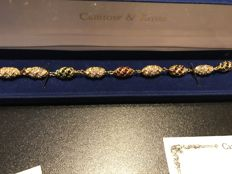 Rare Stunning gem set gold camrose and kross Jacqueline bouvier Kennedy First Lady USA 1961-63 boxed certificated bracelet