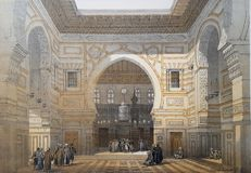 4 prints by David Roberts (1796– 1864) - Various views on Ancient Monuments and Landscapes - 19th century