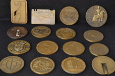 Lot of  16 bronze medals - Portugal mid 20th century