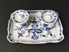 Writing set Meissen blue onion pattern - 1. quality