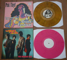 Pink Floyd- Great lot of 2 special releases: Internationales Essener Pop & Blues Festival (90 copies on yellow wax, nr. 86/90) & The Danish Trip (on pink wax!)
