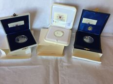 Vatican City - €5/€10 (lot of 3 pieces) in box sets - silver