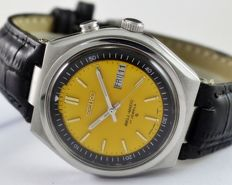 Seiko Bellmatic (Alarm) Yellow Men's Wristwatch - circa 1970s