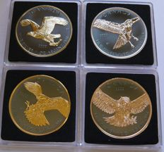 Canada - 5 Dollars 2014/2015 'Birds of Prey' (4 different) in set - silver
