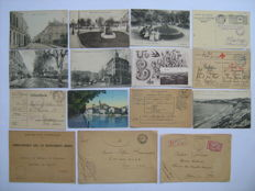Postal pieces with censorship, field post, military postage paid, prisoners of war - 69 x - France and Germany