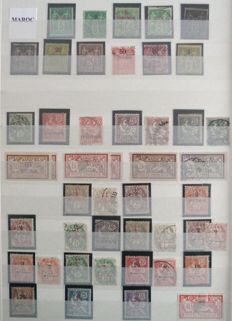 French Ex-Colonies 1891/1956 - Morocco before independence, almost complete collection incl. complete PA - between Yvert no. 1 and 361