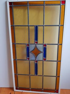 Large format Art Deco stained glass window - the Netherlands - 1920s