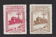 Spain 1930 - International Railway Congress - Edifil 480/481