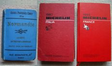 Guides; Guide Pratiques Conty Normandie - 2 Red Guides Michelin Italia & France - 1907/1993