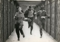 Unknown - Jeanne Moureau, Henry Serre and Oskar Werner - 'Jules and Jim', 1962