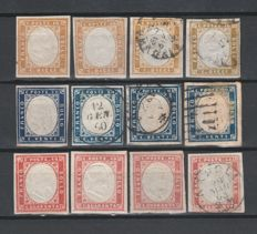 Sardinia 1855/1863 - small selection of stamps