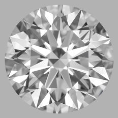 Round Brilliant Diamond 0.50 Carat , E VS1   3EX  Cert: GIA  #DS-17 -original image10X