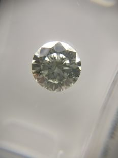 1.08 ct Round cut diamond H SI2   No Reserve Price
