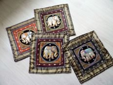 Set of 4 traditional handmade cushion covers