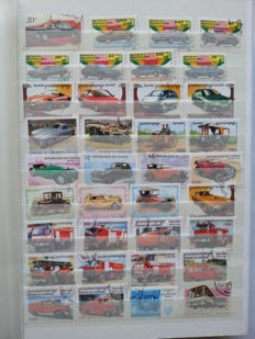 Thematic Transportation, Automobiles, Trains and Planes - 1600 stamps and 80 Blocks