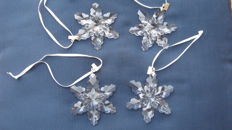 Swarovski - Lot of 4 Christmas stars 2008