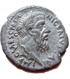 Roman Empire - Denarius of emperor Pescennius Niger (194 A.D.) minted in Antioch (au1738)