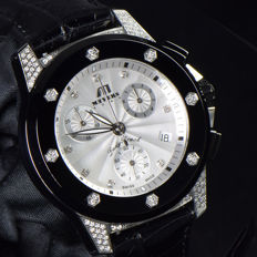 MEYERS Lady Beach XL  -  Ladies Wristwatch  -  With 88 diamonds