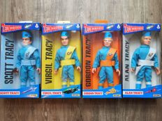 "Matchbox Thunderbirds Set of 4 Tracy Brothers 1994 10"" Acion figures mint in the box"