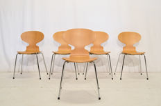 Arne Jacobsen for Fritz Hansen - 5 Ant chairs