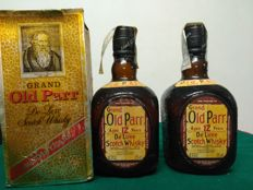 2 bottles - Grand Old Parr de luxe scotch whisky 12 years from the 80's.