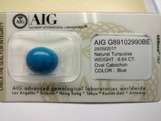 Turquise Blue 6.64 ct         No Reserve Price