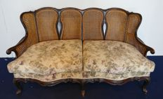 Venetian Sofa in Elm Wood - Italy, Venice