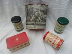 Original tins from Tomado and Bolletje.