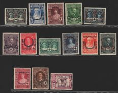 Spain, 1926/1927 – Red Cross, Jubilee of Alfonso XIII, land and air mail – Edifil 325/348, 349/372