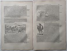 3 prints by an unknown artists (16thth century) - Landscape and Animals - 16th or early 17th century