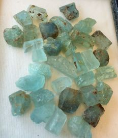 Lot of Naural aquamarine rough crystals - Brazil - 97.01ct (32)