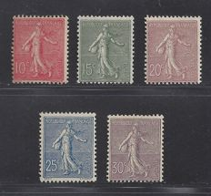 France 1903 - Type Semeuse - Yvert n° 129/133