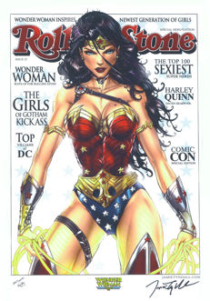 Jamie Tyndall - Limited Edition Poster - Wonder Woman - Rolling Stone Magazine Cover