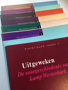 Lot of 6 Westerbork Cahiers volumes and 1 volume Historische Reeks Kamp Westerbork - 1989-1998