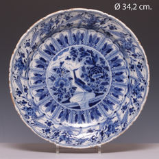 Large Delft earthenware plate - 18th century