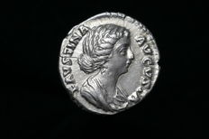 Ancient Roman, Silver Imperial Denarius, 161-75AD, Faustina Junior, FORTUNAE MVLIEBRI, Unique legend