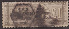 Great Britain, effigy of Victoria, 1884 - Yvert 89, £1, BROWN