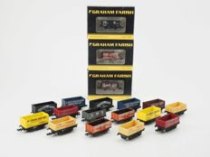 Bachmann/Lima/Trix/Peco N - 18x various freight wagons most of the BR